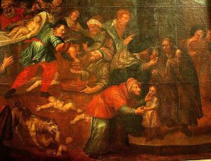 "An image of a ""ritual murder"" from Sandomierz Cathedral, Poland"
