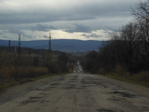 The road from Drohobych to Boryslav