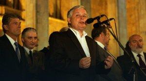 President Lech Kaczyński in Tbilisi, August 2008 Source: onet.pl