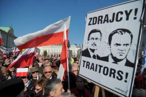 Anti-government protestors in central Warsaw, April 2012 Source: gazeta.pl