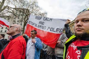 Protest against anti-Polish discrimination, London, Feb 2014 (Source: Velar Grant, Demotix)