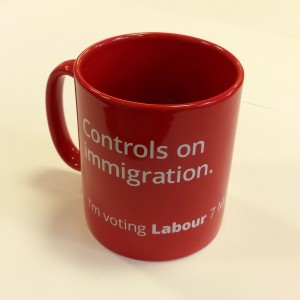The Labour Party's anti-immigration mug, a bargain at £5