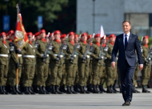 President Duda takes formal command of the armed forces.