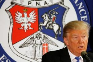 Trump addresses the Polish National Alliance in Chicago, U.S.